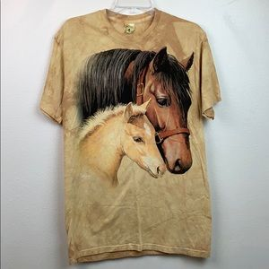 The Mountain: Clayton Weirs tie dye horses shirt